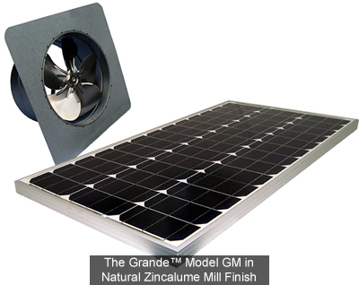 Attic Breeze GM model solar fans are ideal for virtually any roof type featuring gable-end architecture.